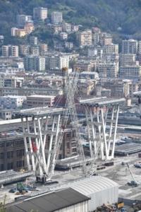 Ponte Morandi: proseguono lavori