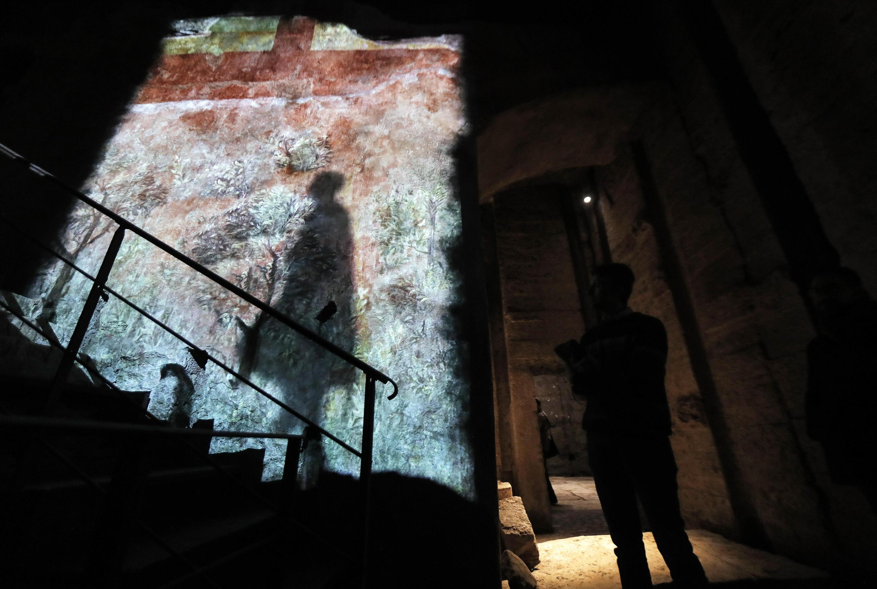 One of the rooms in the 'Domus Transitoria', the first Nero's palace on the Palatine Hill, Colosseum Archeological Park, Rome, Italy, 11 April 2019. ANSA/RICCARDO ANTIMIANI