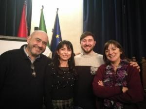 Con Stefania Proietti, sindaco di Assisi, e Alessio Lanfaloni (27/1/2018)
