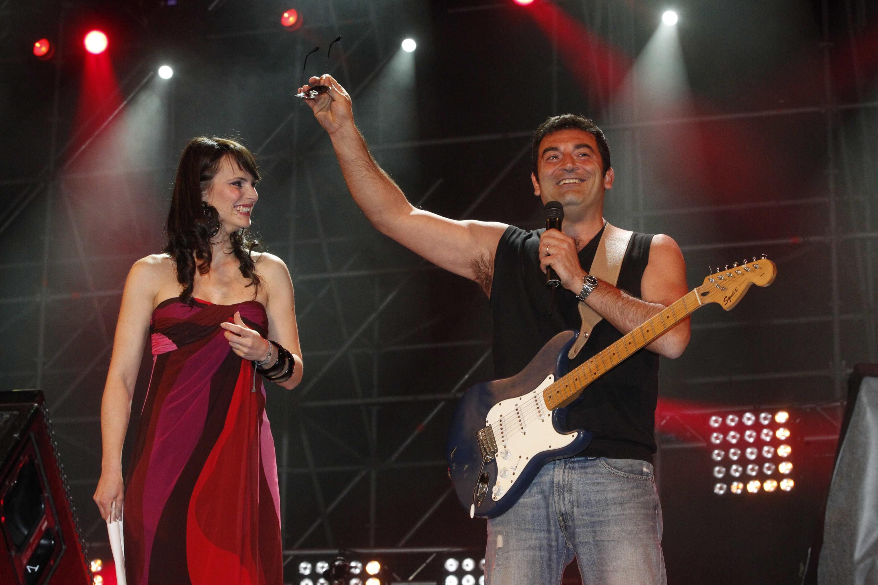 Lorena Bianchetti con Max Giusti