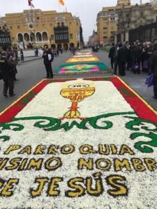 Festa di religiosità popolare a Lima