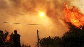 Enorme incendio a Evia