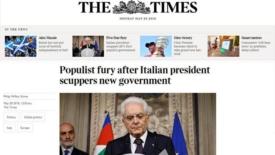 La crisi italiana sulla stampa estera
