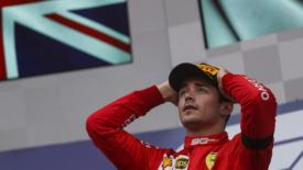 La prima, dolorosa, di Leclerc con la Ferrari