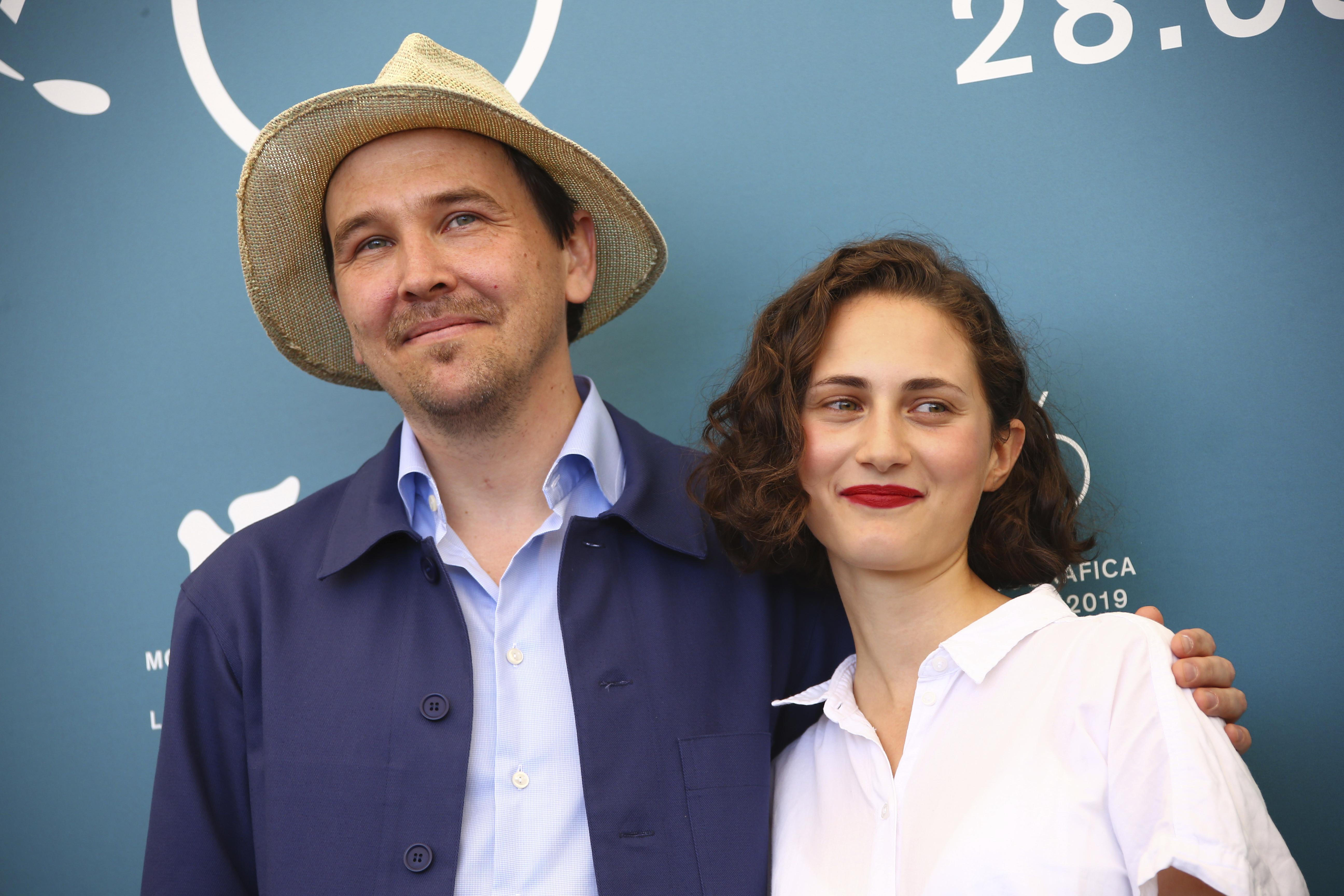 Anders Hellstrom, a sin., e Tatiana Delaunay. Gli attori di 'About Endlessness'