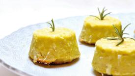 Flan di topinambur e patate con castagne