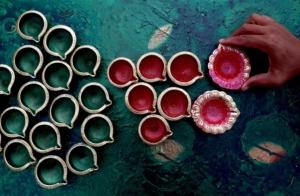 Preprations for Diwali festival in Bangalore