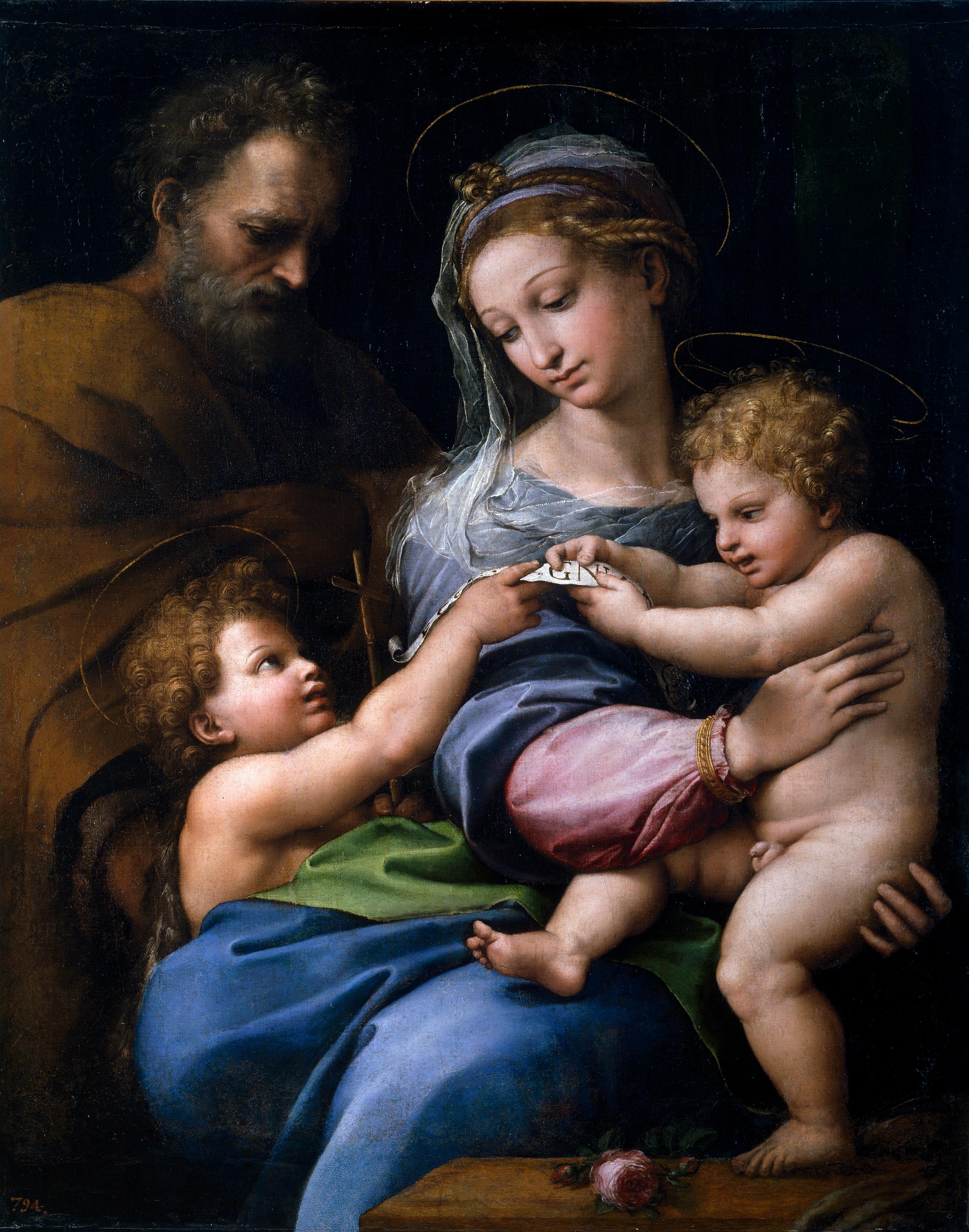 Raffaello. Madonna della rosa. Museo del Prado.