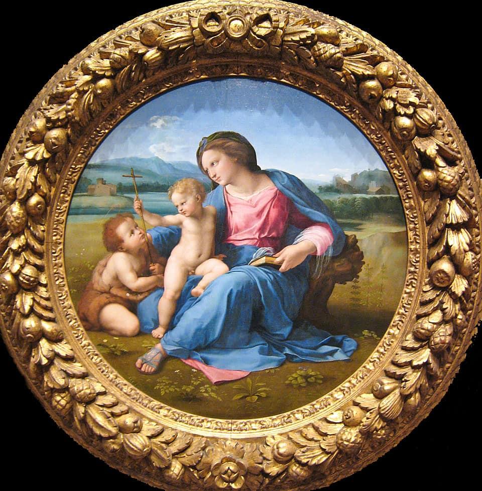 Raffaello. La Madonna D'Alba. Washington.