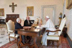 2 settembre 2019: Maria Voce e Jesús Morán in Vaticano incontrano papa Francesco