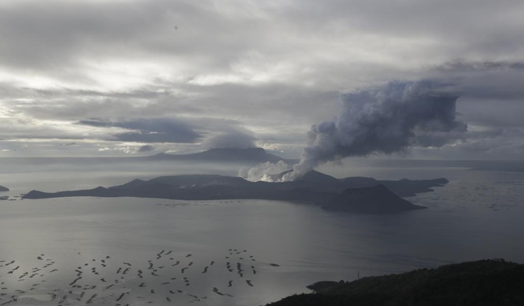 Il vulcano Taal visto da Tagaytay