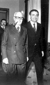 Piersanti Mattarella col presidente Pertini