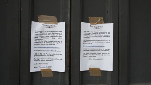 Coronavirus. ridotti gli eventi di partecipazione di massa sul territorio milanese (AP Photo/Antonio Calanni)