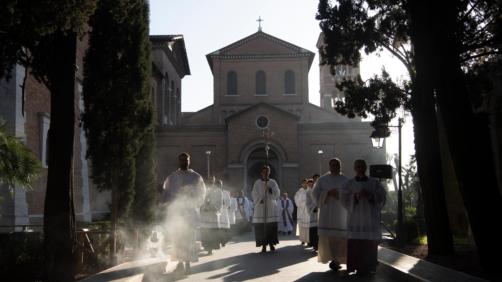 Papa Francesco alla Messa delle Ceneri (Foto Vatican Media/LaPresse27-02-2020)