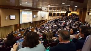 La Sala del Sinodo durante il seminario degli esperti di IA