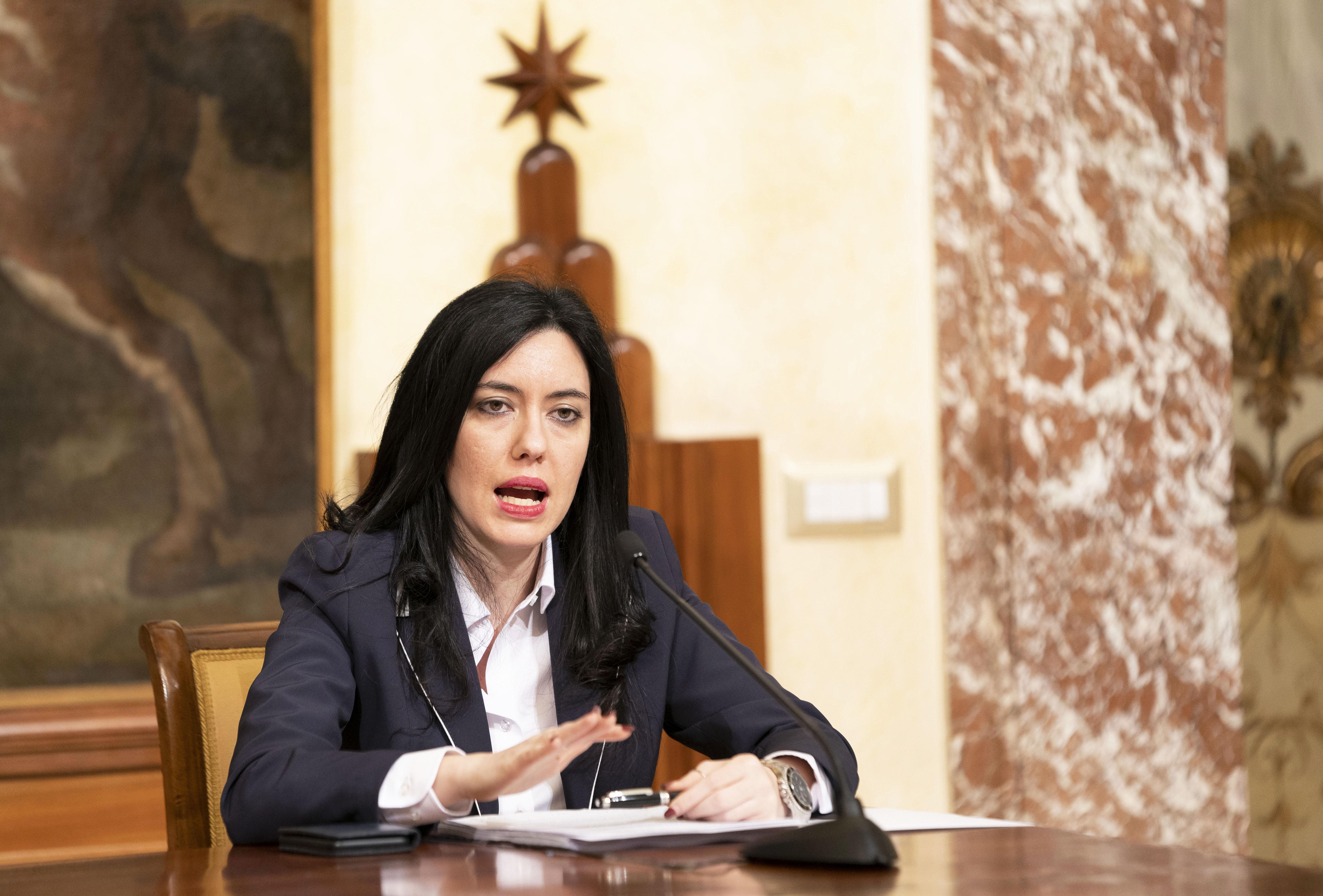 Lucia Azzolina ministro dell'istruzione .Foto Filippo Attili/Palazzo Chigi/LaPresse