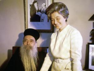 1970. Chiara Lubich con Athenagoras