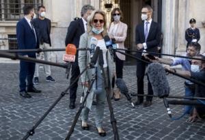 Foto Roberto Monaldo / LaPresse 12-06-2020 La PM Maria Cristina Rota a Palazzo Chigi.