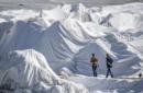 Coperte per il ghiacciaio, anche in Italia