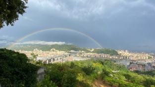 Genova: un ponte che gioca con luce e vento