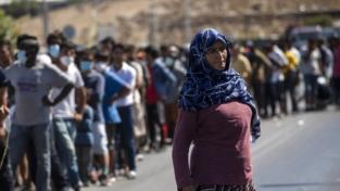Lesbo, l'incendio del campo profughi di Moria
