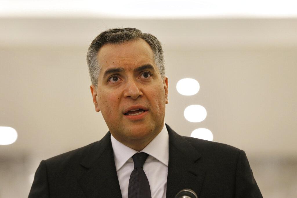 Mustapha Adib, premier designato del Libano  (AP Photo/Bilal Hussein, File)