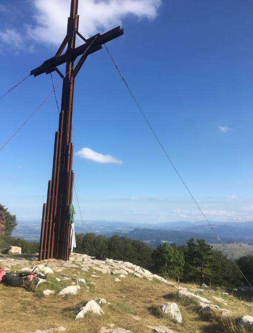 croce di ferro sul monte Campo
