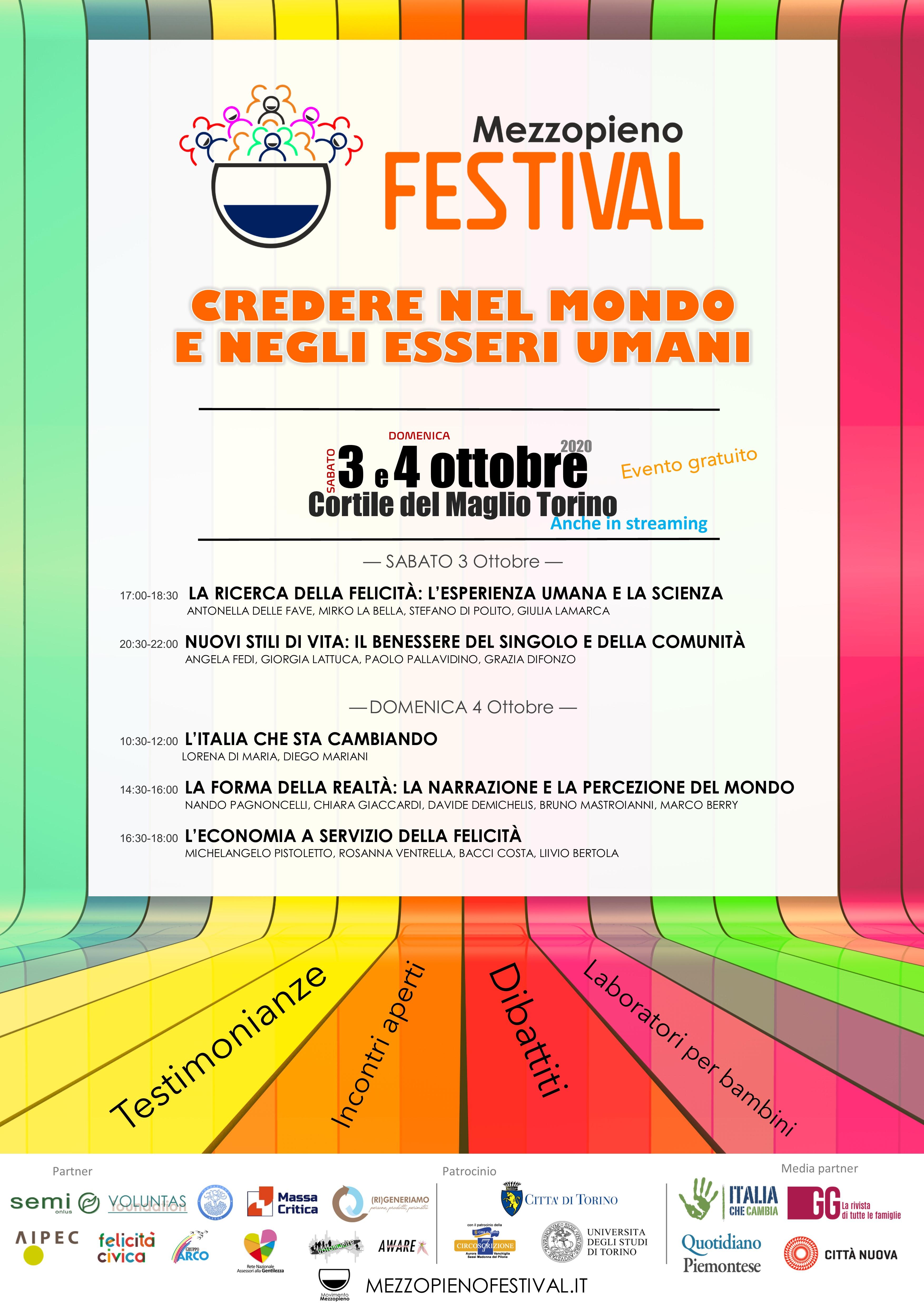 Mezzopieno Festival Credere Nel Mondo E Negli Essere Umani Citta Nuova Citta Nuova