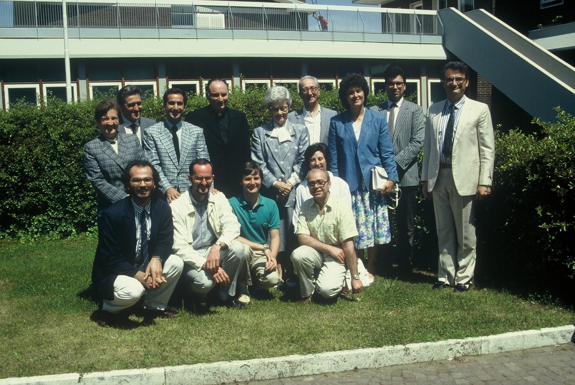 Redazione Città Nuova: Giuseppe Garagnani è il secondo in piedi da sinistra