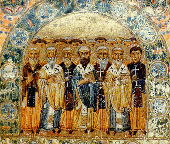 mosaico con i Padri della Chiesa