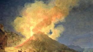 Zio e nipote davanti al vulcano