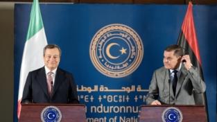Mario Draghi, visita lampo in Libia