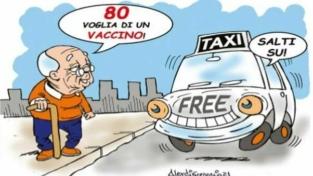 Taxi gratis per gli anziani che devono vaccinarsi
