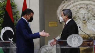 """Draghi: """"Italia al fianco della Libia per la transizione"""""""