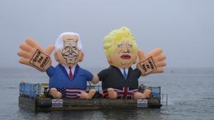 Le colorate proteste del G7