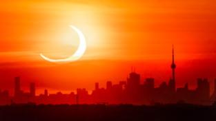 L'eclissi di Sole vista dal Canada