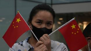 "La signora Huawei al ""Checkpoint Charlie"""